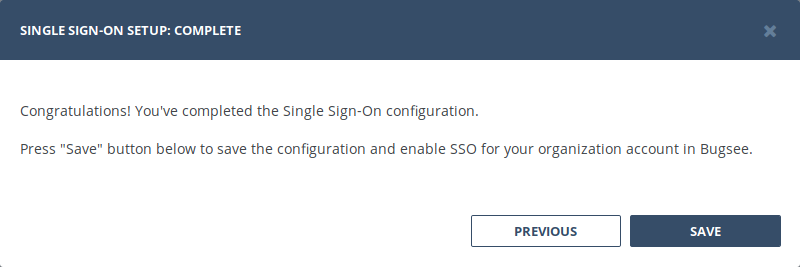 Overview - SSO - Documentation - Bugsee